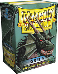 Green - Standard Boxed Sleeves (Dragon Shield) - 100 ct