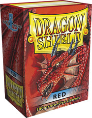 Dragon Shield Box of 100 in Red on Channel Fireball