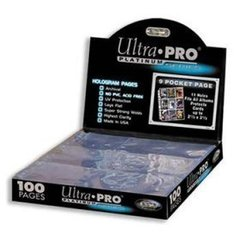 Box of (100) Ultra Pro Platinum Series Hologram 9 Pocket Pages