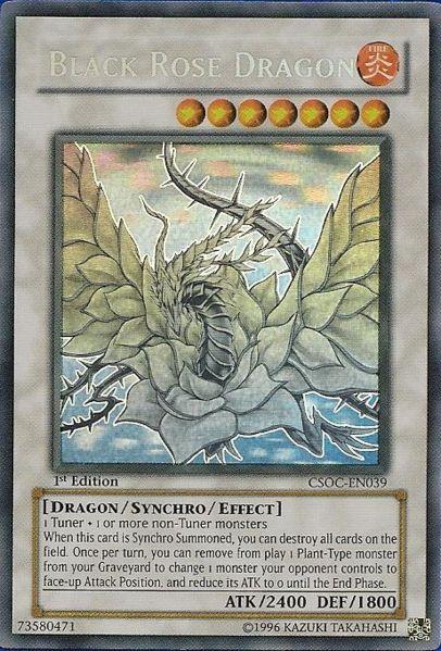 Black Rose Dragon - CSOC-EN039 - Ghost Rare - 1st Edition