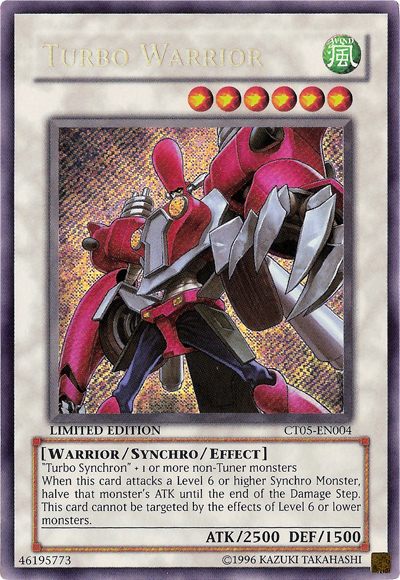 Turbo Warrior - CT05-EN004 - Secret Rare - Limited Edition - Promo