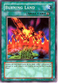 Burning Land - DB1-EN177 - Common - Unlimited Edition