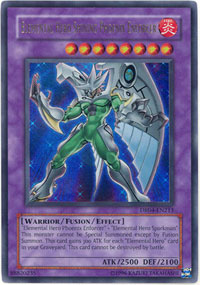 Elemental Hero Shining Phoenix Enforcer - DR04-EN213 - Ultra Rare - Unlimited Edition