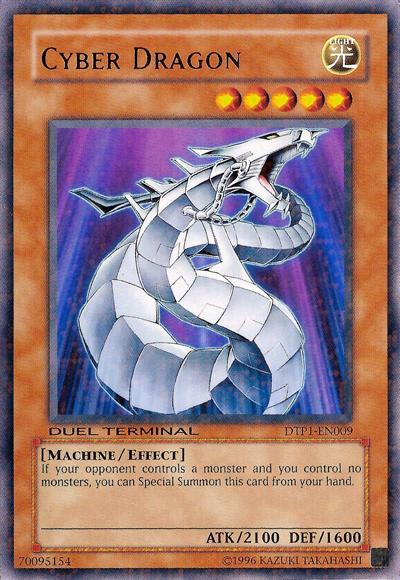 Cyber Dragon - DTP1-EN009 - Rare Parallel Rare - Duel Terminal