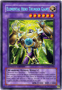 Elemental Hero Thunder Giant - EHC2-EN004 - Secret Rare - Limited Edition
