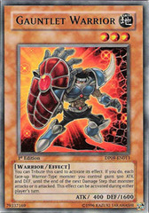 Gauntlet Warrior - DP09-EN013 - Ultra Rare - 1st Edition