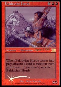 Balduvian Horde - Foil DCI Judge Promo