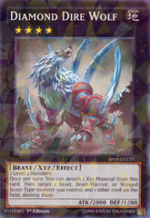 Diamond Dire Wolf - BP03-EN127 - Shatterfoil - 1st Edition on Channel Fireball