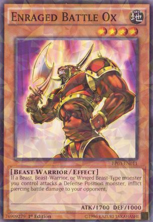 Enraged Battle Ox - BP03-EN011 - Shatterfoil - 1st Edition