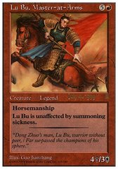 Lu Bu, Master at Arms - Foil - Prerelease Promo - 7/4/1999