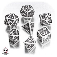 White-Black Dwarven Dice Set
