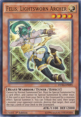Felis, Lightsworn Archer - DUEA-EN095 - Ultra Rare - 1st Edition