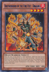 Brotherhood of the Fire Fist - Dragon - Blue - DL18-EN008 - Rare - Unlimited Edition