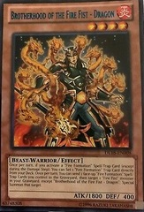Brotherhood of the Fire Fist - Dragon - Green - DL18-EN008 - Rare - Unlimited Edition
