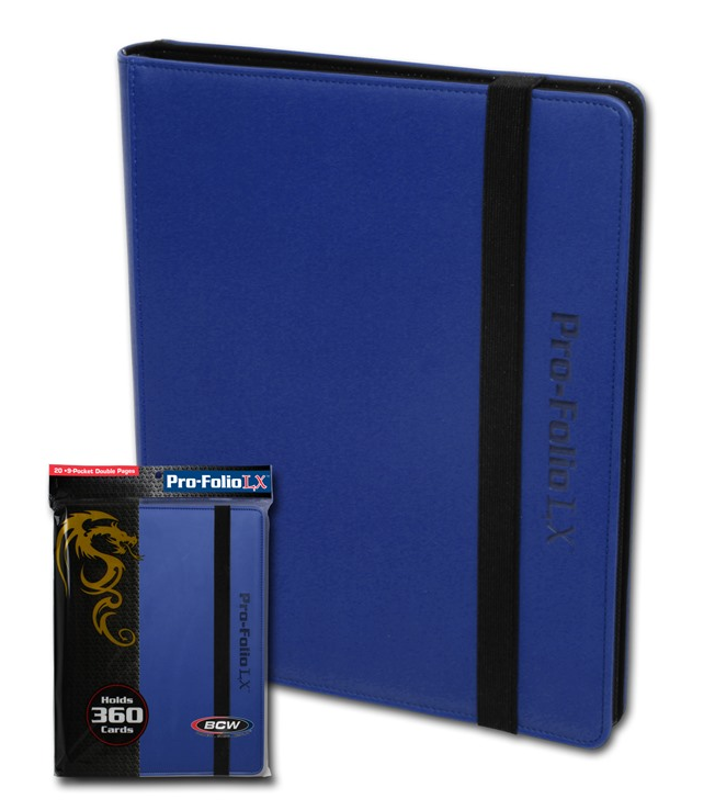 BCW Pro-Folio 9-Pocket LX - Blue