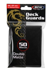 BCW Deck Guard Matte Sleeves - Black