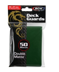 Deck Guards BCW Green Double Matte Standard-Sized Sleeves (50 ct)