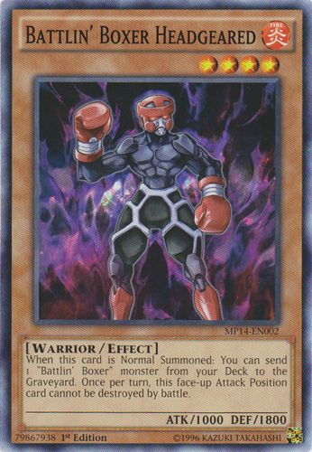 Battlin' Boxer Headgeared - MP14-EN002 - Common - 1st Edition