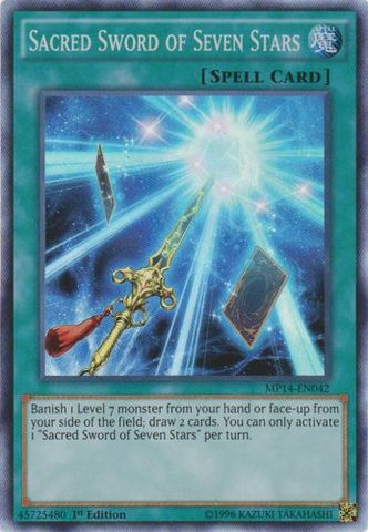 Sacred Sword of Seven Stars - MP14-EN042 - Super Rare - 1st Edition