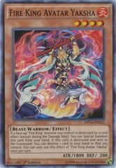 Fire King Avatar Yaksha - MP14-EN121 - Super Rare - 1st Edition
