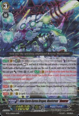 Blue Storm Karma Dragon, Maelstrom Reverse - BT15/008EN - RRR
