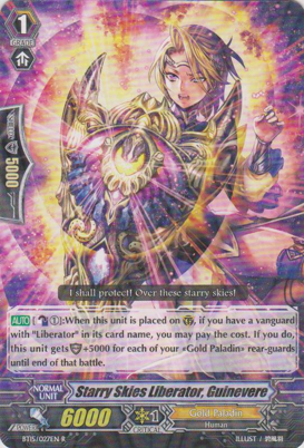 Starry Skies Liberator, Guinevere - BT15/027EN - R