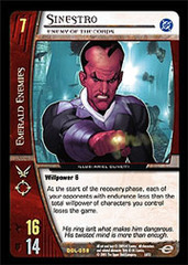 Sinestro, Enemy of the Corps - Foil