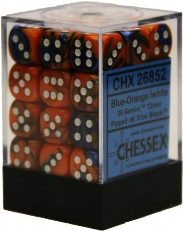 36 Gemini Blue Orange/White D6 - CHX26852