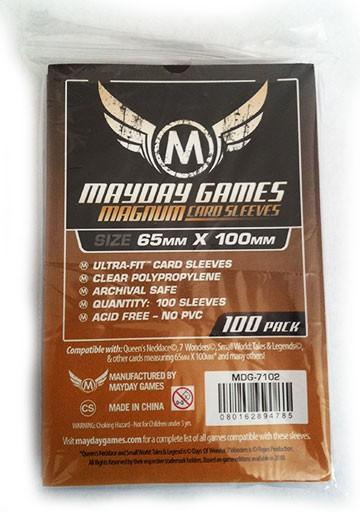 100 ct Magnum Copper 7 Wonders Card Sleeves - Purple