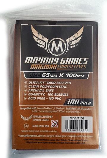 100 ct Magnum Copper 7 Wonders Card Sleeves - Brown