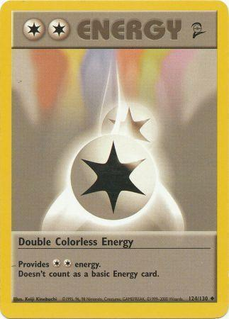 Double Colorless Energy - 124/130 - Uncommon - Unlimited Edition
