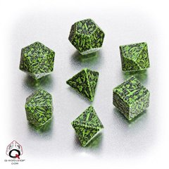 Green-black Forest dice set