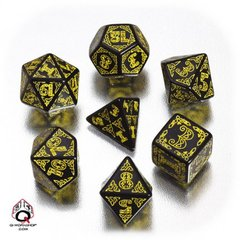 Black-yellow Celtic dice set
