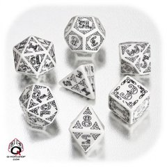 White-Black Celtic Dice Set (revised)