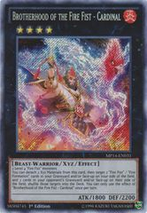 Brotherhood of the Fire Fist - Cardinal - MP14-EN031 - Secret Rare - Unlimited