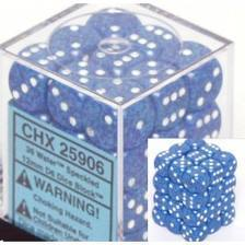 36 Speckled Blue w/White 12mm D6 Dice Block - CHX25906