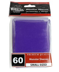 60ct Monster Purple Gloss Small Deck Protectors