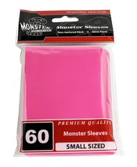 60ct Monster Pink Gloss Small Deck Protectors