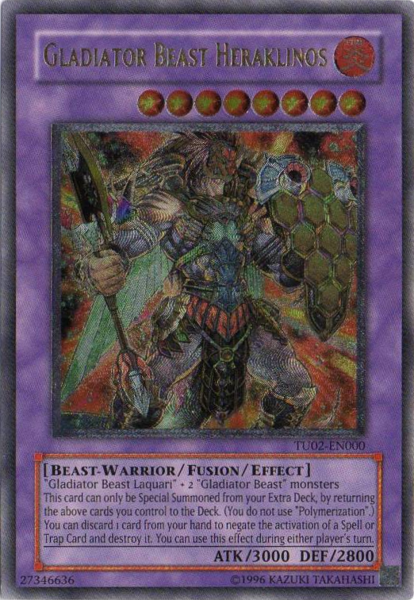 Gladiator Beast Heraklinos - TU02-EN000 - Ultimate Rare - Unlimited Edition