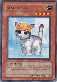 Rescue Cat - TU01-EN008 - Rare - Unlimited Edition