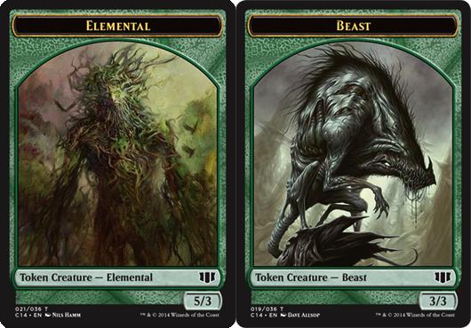 Elemental Token //  Beast (3/3) Token