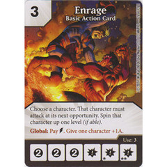 Enrage - Basic Action Card (Die  & Card Combo)