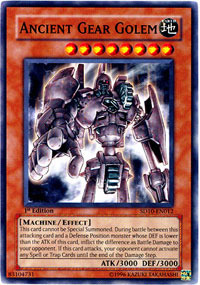 Ancient Gear Golem - SD10-EN012 - Common - 1st Edition