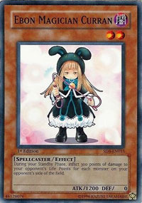 Ebon Magician Curran - SD6-EN015 - Common - 1st Edition