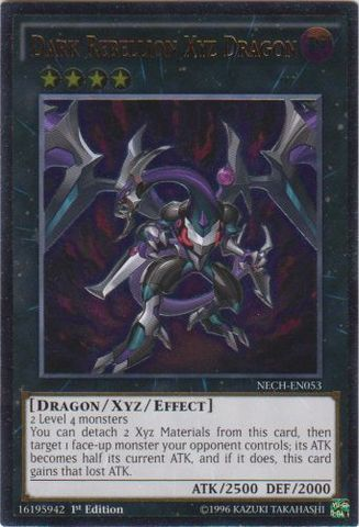 Dark Rebellion Xyz Dragon - NECH-EN053 - Ultimate Rare - 1st Edition