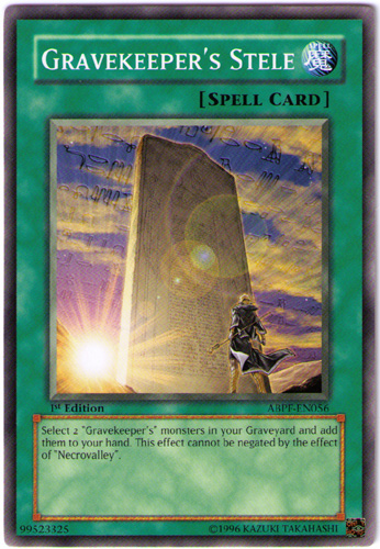 Gravekeepers Stele - ABPF-EN056 - Common - 1st Edition