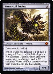 Oversized Scars of Mirrodin Box Topper - Wurmcoil Engine