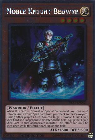 Noble Knight Bedwyr - NKRT-EN002 - Platinum Rare - Limited Edition