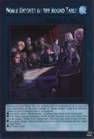 Noble Knights of the Round Table - NKRT-EN018 - Platinum Rare - Limited Edition