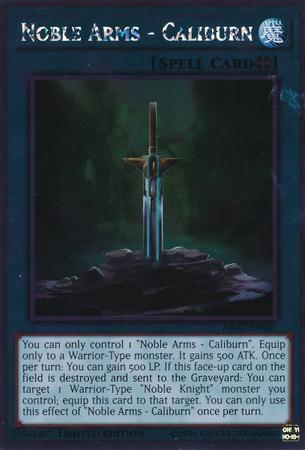 Noble Arms - Caliburn - NKRT-EN021 - Platinum Rare - Limited Edition